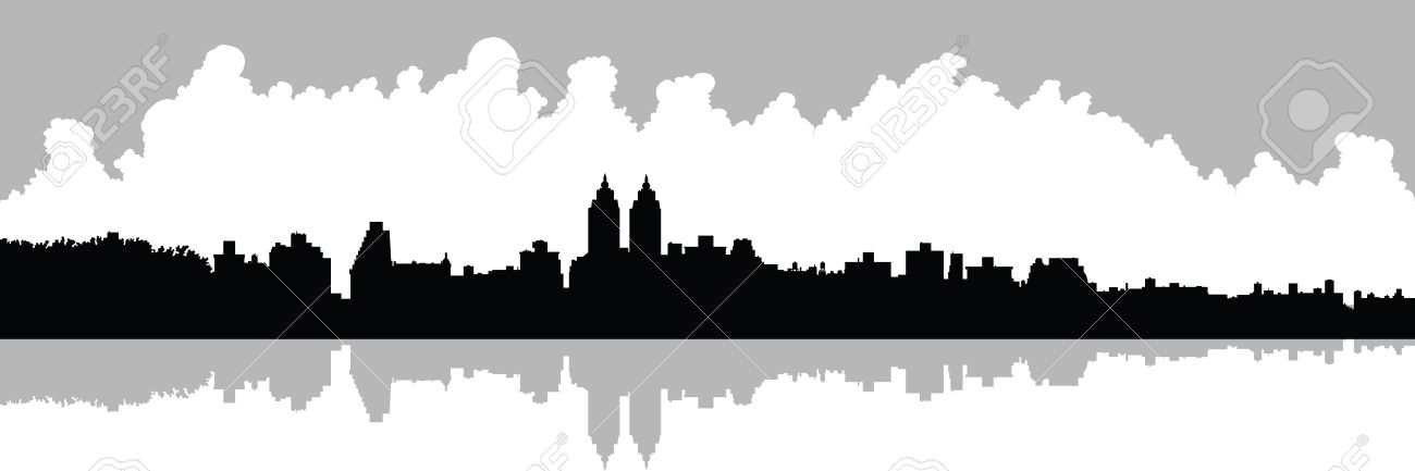1300x433 Skyline Silhouette Of Upper West Side In New York City, Usa