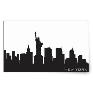 324x324 Skyline Silhouette Stickers Zazzle