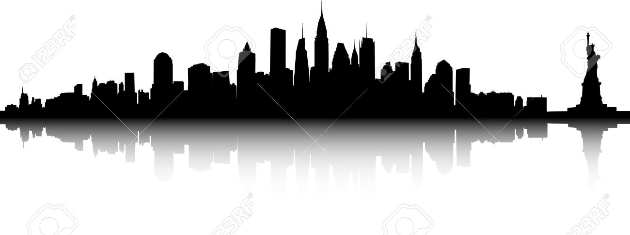 1300x485 Vector Part Of The New York Skyline Royalty Free Cliparts, Vectors
