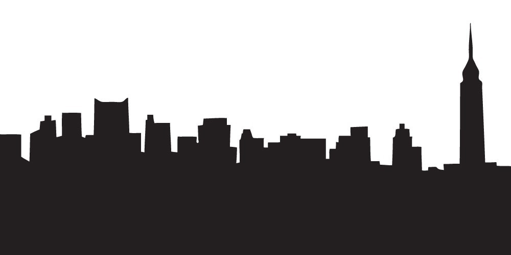 1000x500 Outline Picture Of New York Skyline