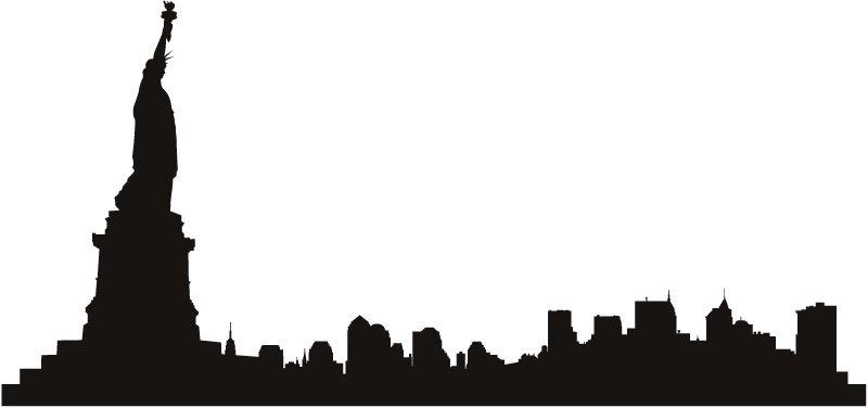 800x376 New York Skyline Clipart