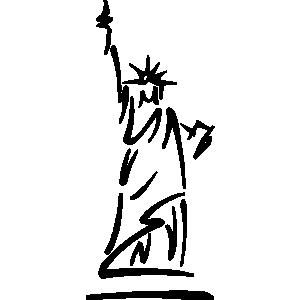 300x300 Statue Clipart New York Liberty