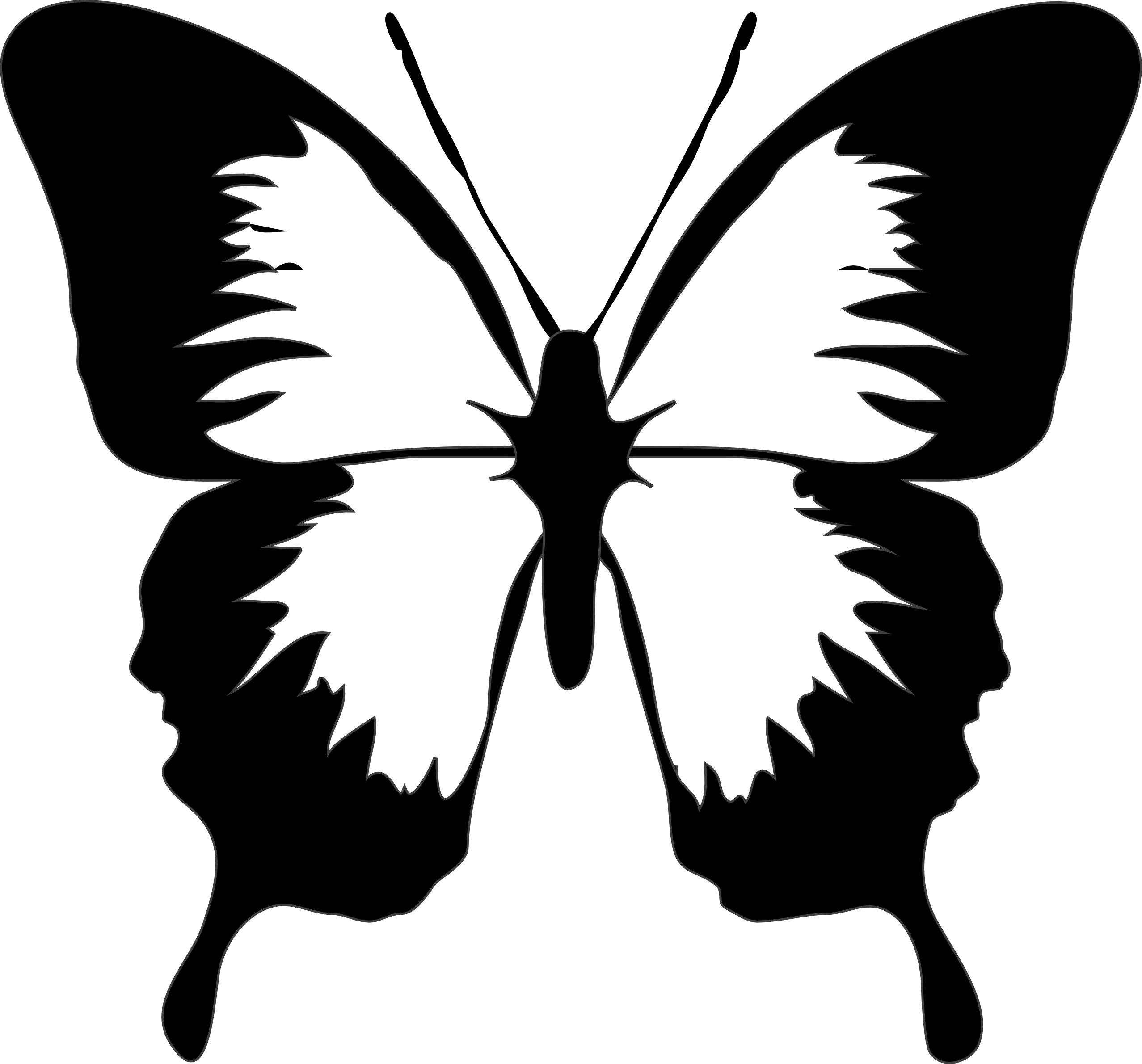 2555x2381 Butterfly Clip Art Black And White Nteeb9gta