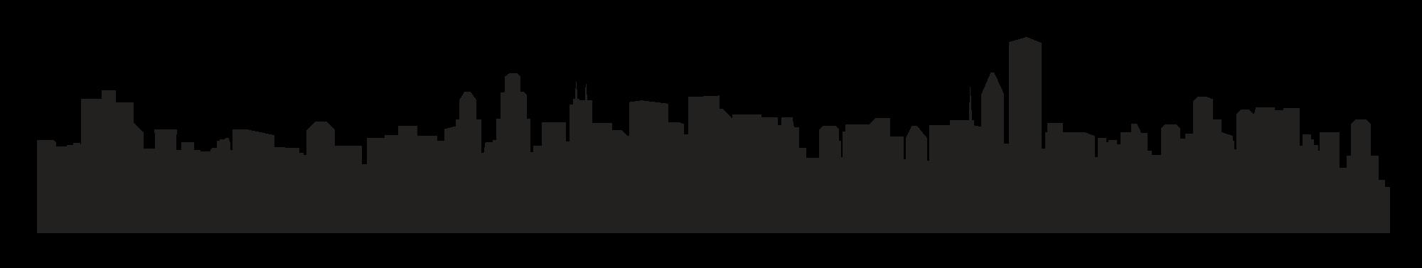 2000x377 City Skyline Silhouette Clip Art