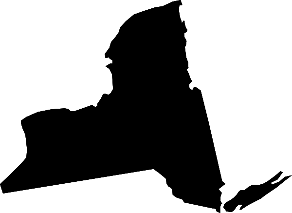 600x437 New York Black State Shape Clip Art At Clker Com Vector Clip Art