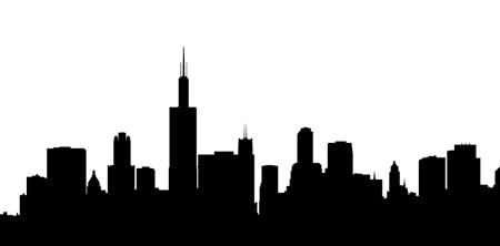 450x222 Chicago Skyline Outline Clip Art
