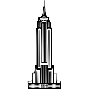300x300 Art Deco Empire State Building Clipart, Cliparts Of Art Deco