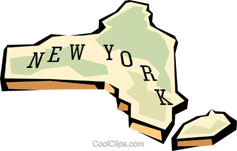 480x307 New York State Map Royalty Free Vector Clip Art Illustration