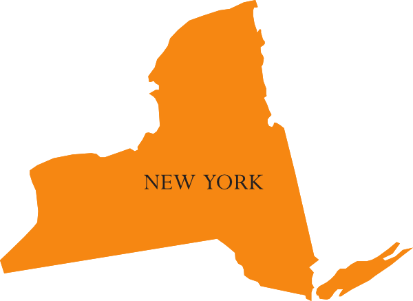 600x437 State Of New York Map Clip Art
