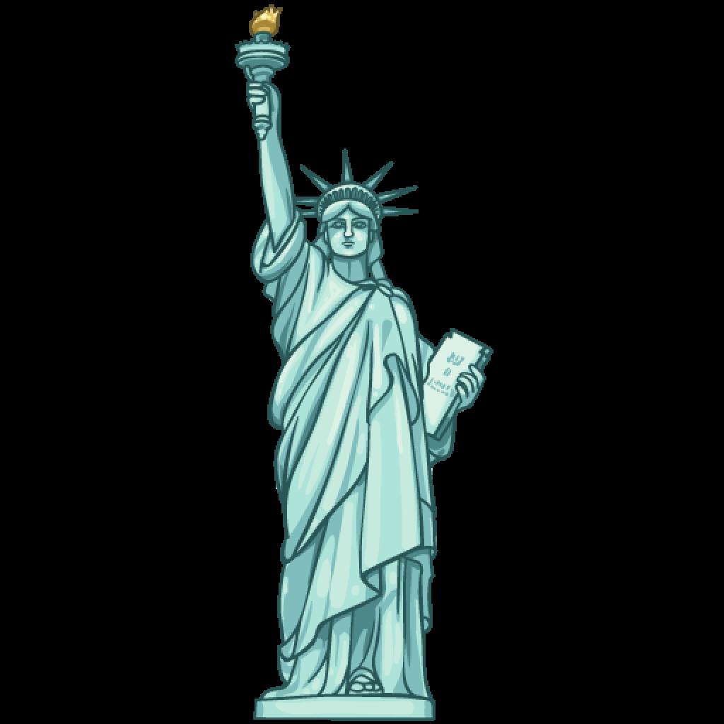 1024x1024 Statue Of Liberty Clip Art