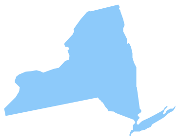 369x288 New York State Map Clipart