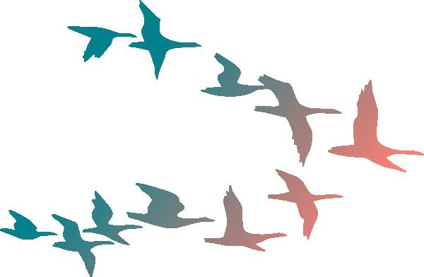 600x392 Birds In Flight Clip Art