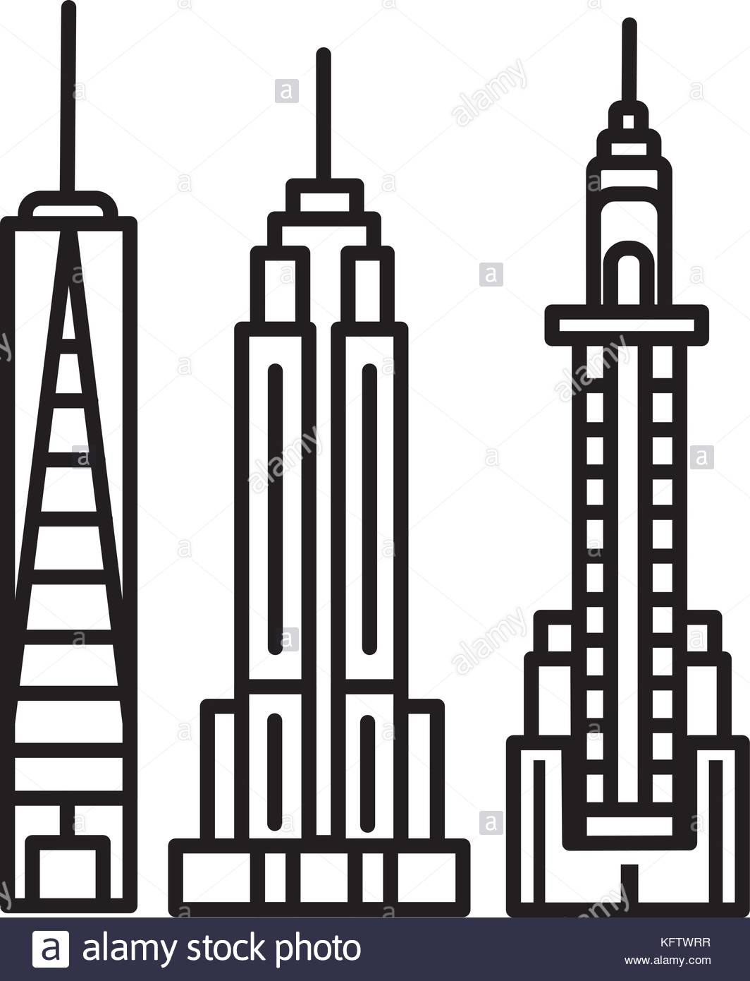 1064x1390 New York City Skyline Illustration Stock Photos Amp New York City