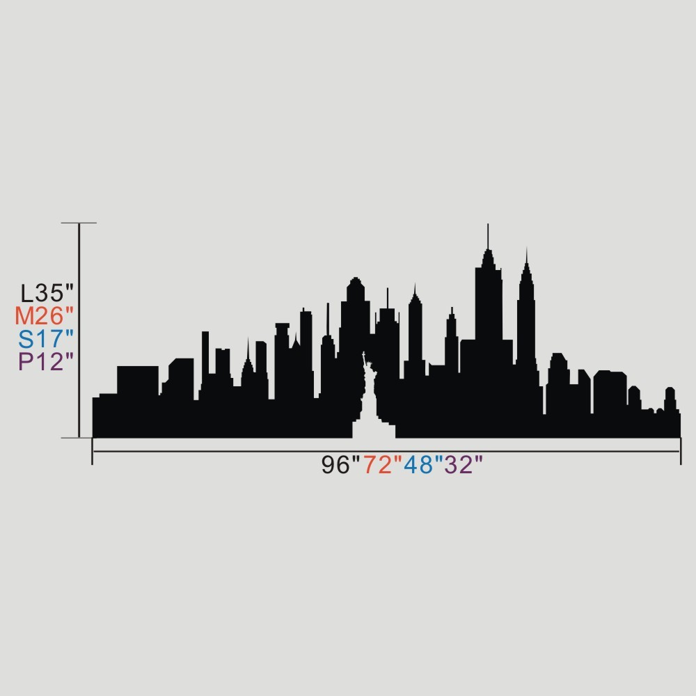 1000x1000 New York City Wall Sticker