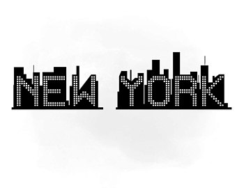 340x270 New York Skyline Svg Etsy