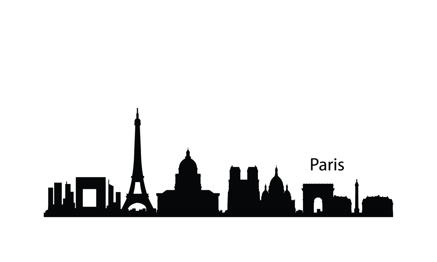 1500x900 Paris Clipart Paris Skyline Clipart