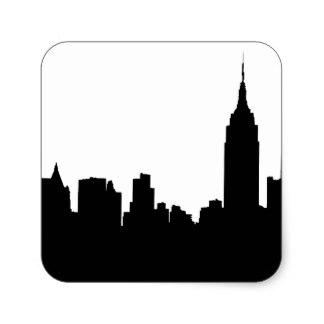 324x324 New York City Skyline Stickers Zazzle