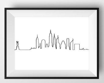 340x270 New York Skyline Etsy