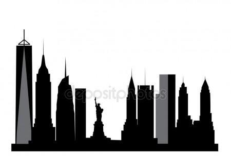 450x304 New York Skyline Stock Vectors, Royalty Free New York Skyline