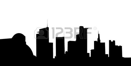 450x227 Vector New York Skyline Silhouette Stock Photo, Picture