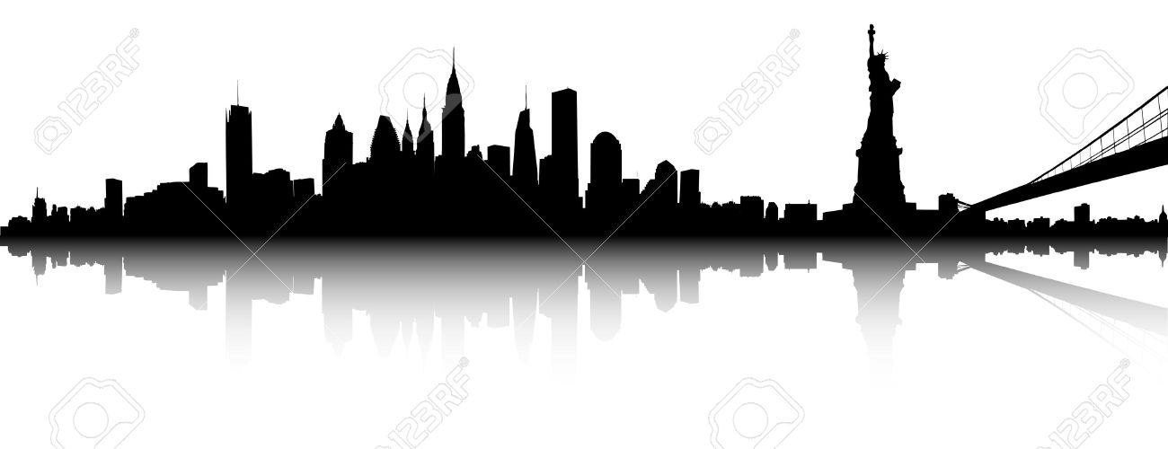 1300x500 Vector Part Of The New York Skyline Royalty Free Cliparts, Vectors