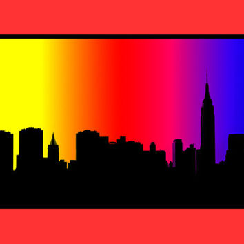 354x354 Best New York Skyline Silhouette Wall Art Products On Wanelo