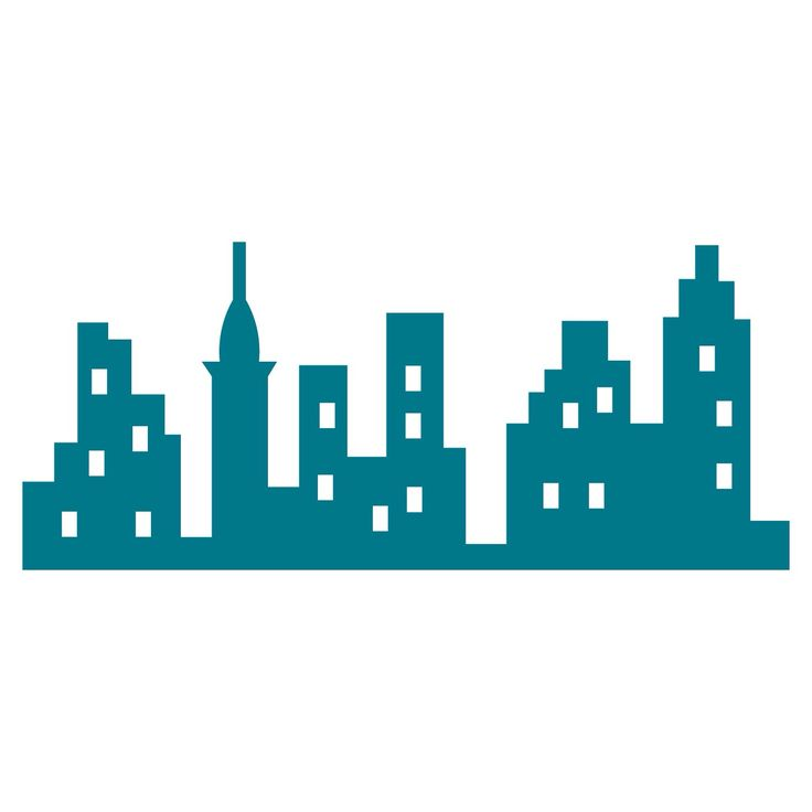 New York Skyline Silhouette Clipart