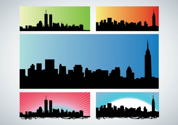 600x423 Nyc Skyline Free Vector In Adobe Illustrator Ai ( Ai ) Vector