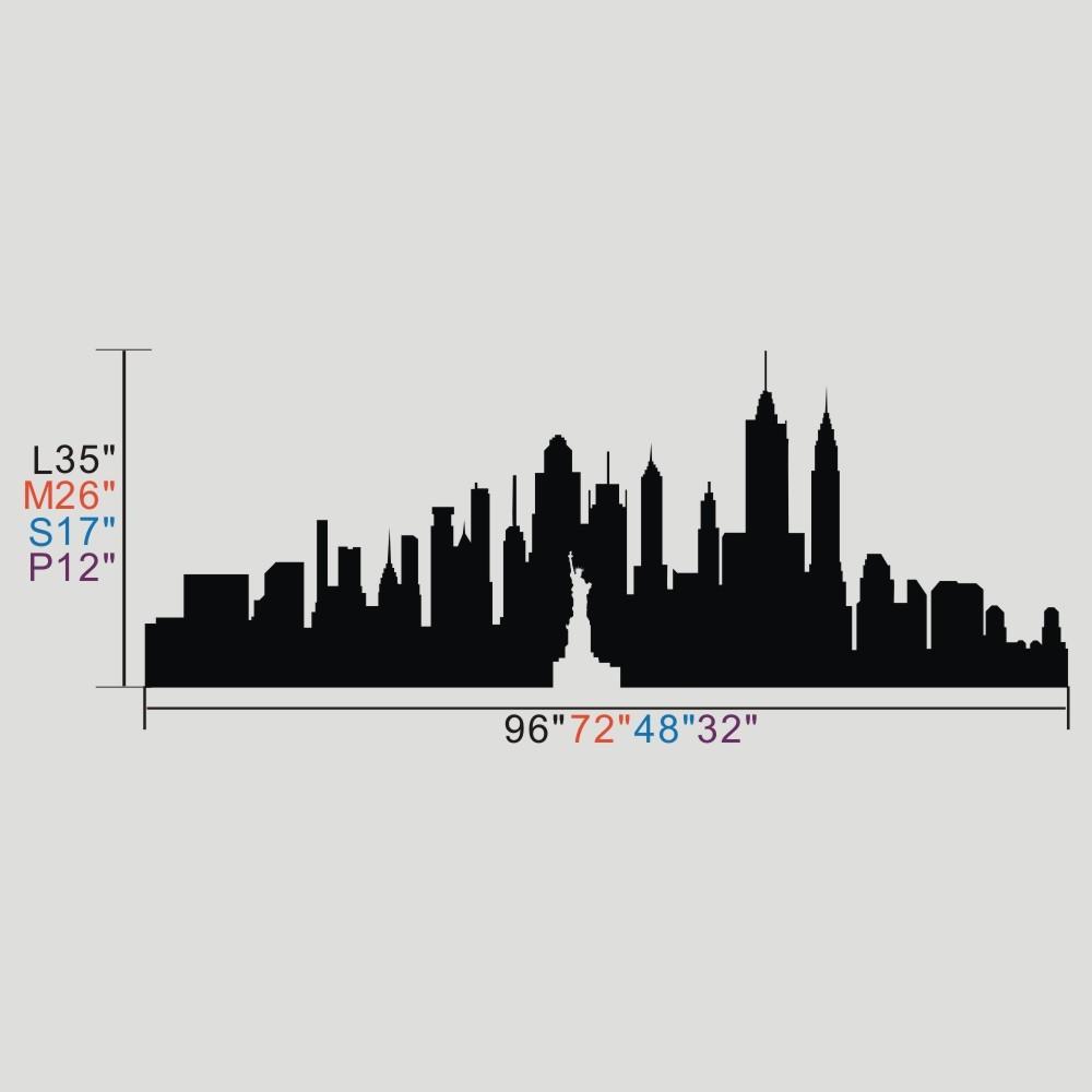 1000x1000 New York City Skyline The Big Apple Wall Sticker Nyc Vinyl Wall
