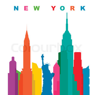 320x320 New York City Line Vector Pixel Perfect Illustration. Bridge