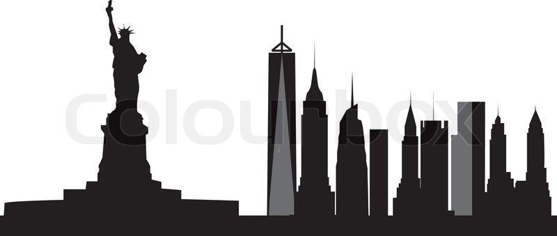 800x339 New York Skyline Stock Vector Colourbox