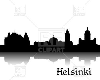 400x320 Silhouette Of Cityscape Of Helsinki