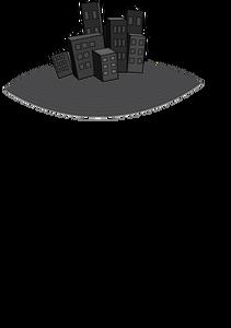 211x300 6563 City Skyline Silhouette Clip Art Public Domain Vectors