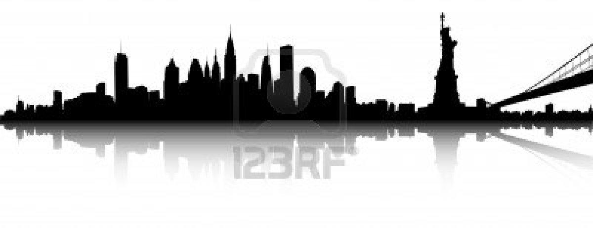 1200x462 Vector Deel Van De Skyline Van New York Stockfoto B12 Good Food