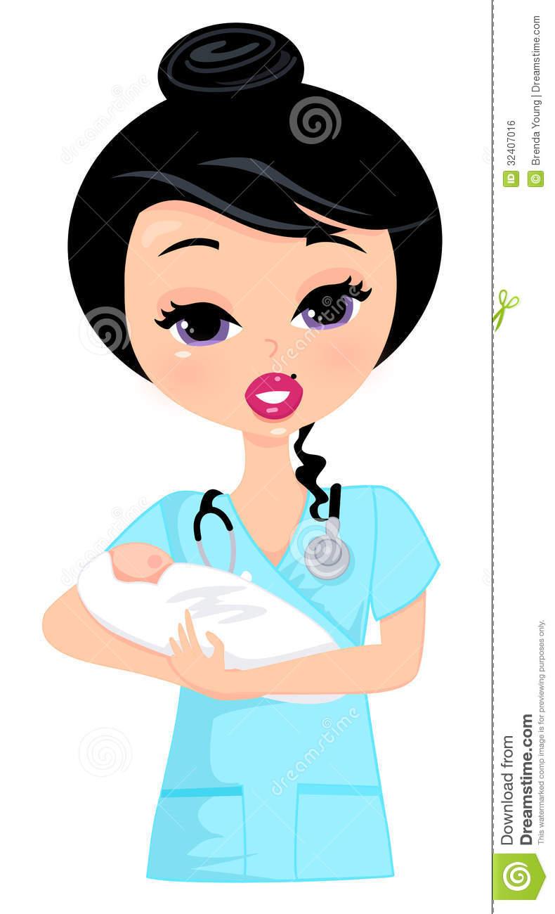 790x1300 Nurse Clipart Baby Nurse