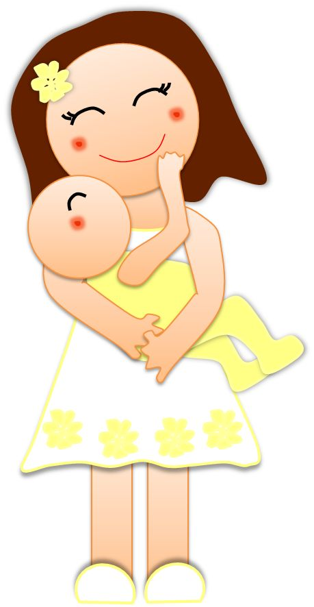 Newborn Girl Clipart