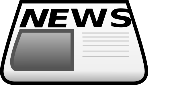 600x299 News Paper With Lines Clip Art