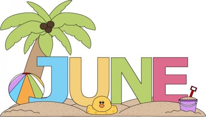 820x467 Month Of June Clip Art Free 2016 Calendar Inside Month Of June