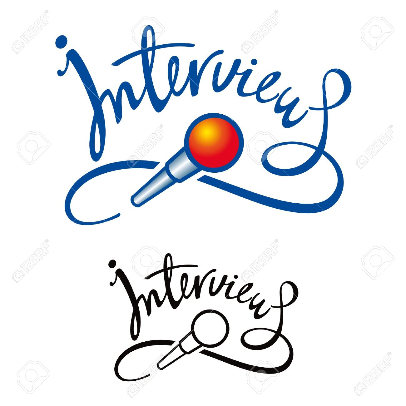 1300x1300 Microphone Clipart Reporter Interview
