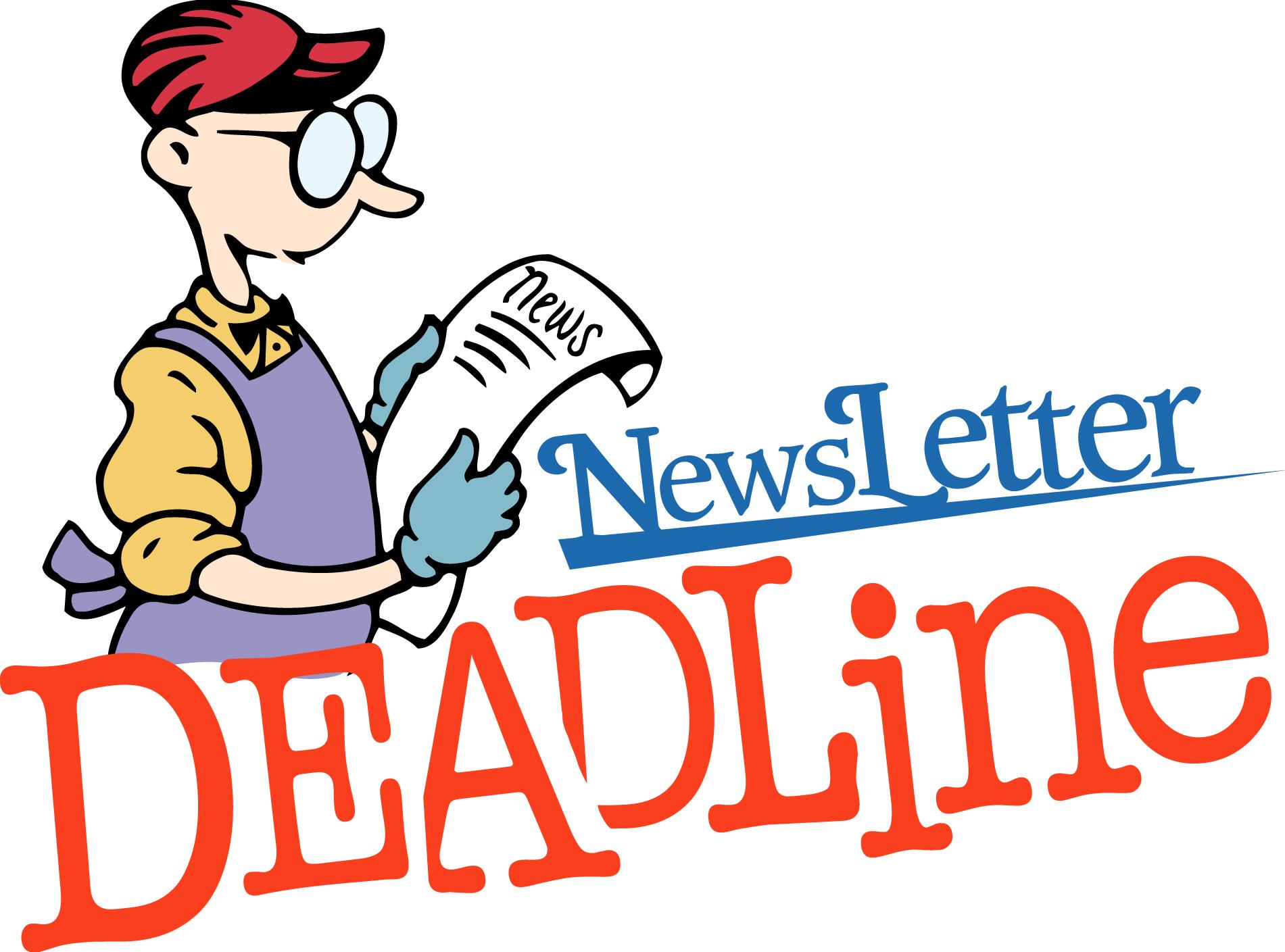 1901x1409 Newsletter Deadline Clipart Clipartfest 2