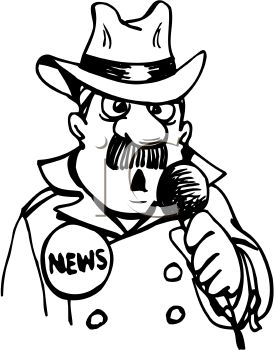 274x350 Journalist Clipart Black And White