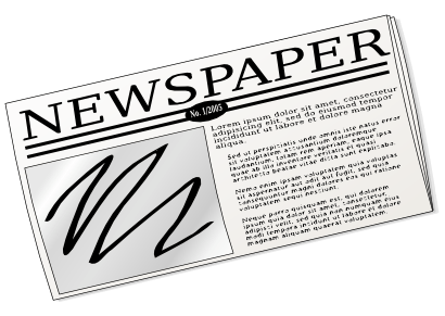 410x291 Newspaper Cliparts