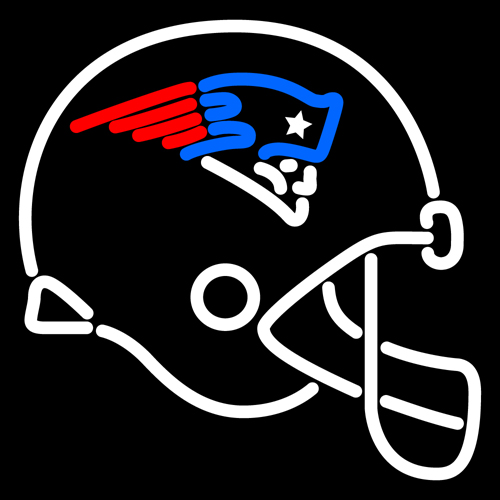 500x500 New England Patriots Helmet Logo Nfl Neon Sign 16x16 [New England