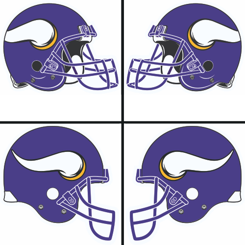 500x500 Minnesota Vikings Helmet Logo Lt2006 Presentgt Iron On Stickers