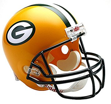 355x332 Riddell Nfl Green Bay Packers Deluxe Replica Football Helmet