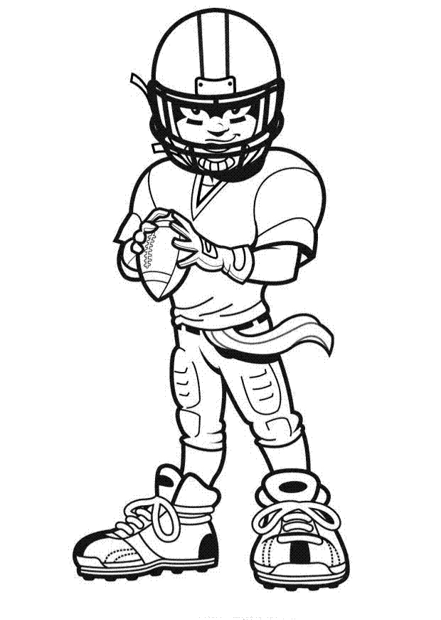 620x870 Coloring Pages Of Football Players For Kids Football Poster
