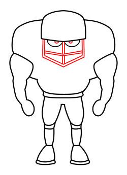 250x345 Drawing A Cartoon Football Player