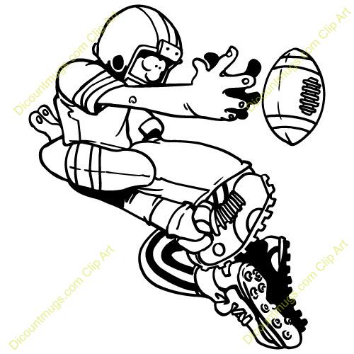 500x500 Football Interception Clipart
