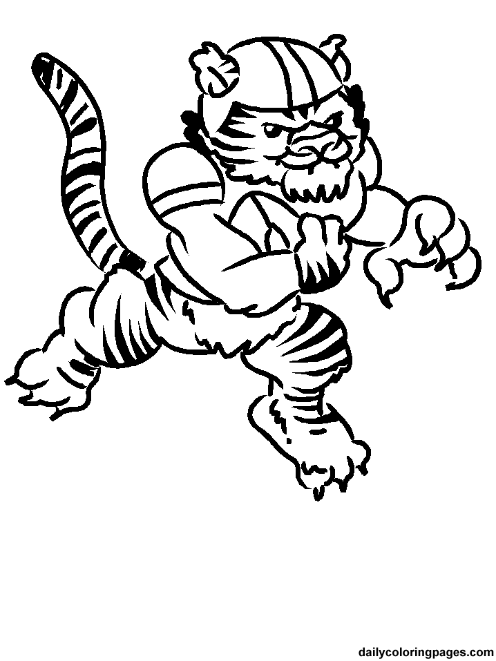 718x957 Football Player Coloring Pages