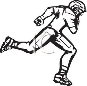 300x296 Football Player Running Down Field